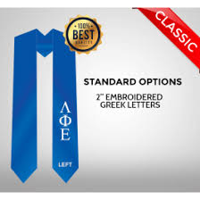 sorority graduation stoles store custom graduation stoles custom fraternity and