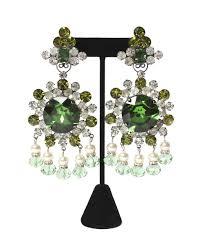 Gunmetal Chandelier Earrings Lawrence Vrba Oversized Rhinestone Chandelier Earrings U2013 C Madeleine U0027s