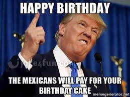 Funny Happy Bday Meme - joke4fun memes trump wishes you a happy birthday
