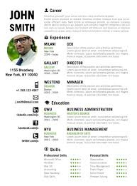 find the green creative resume template on www cvfolio com