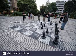 men playing chess on big man size chess board rajasthan india