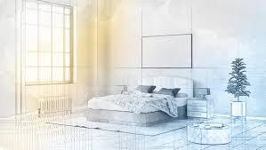dessin chambre style technique du dessin 3d bel intérieur de chambre à coucher