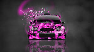 pink subaru wrx subaru impreza wrx sti jdm tuning abstract aerography front domo