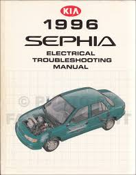 1996 kia sephia repair shop manual 2 volume set original