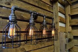 bathroom cool industrial bathroom vanity lighting room design