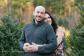 canton ma engagement session at a private christmas tree farm