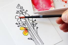 water color cards tutorial creating a watercolor flower card studio calico