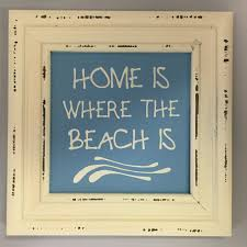 home is where the beach is sign picture frame sign mermaid decor