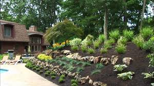 Landscaping Ideas For Sloped Backyard Rock Landscaping Ideas Diy