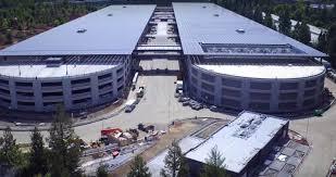 apple u0027s stunning u201cspaceship u201d campus revealed in new drone footage