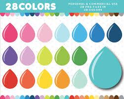 raindrops clipart teardrop shape pencil and in color raindrops