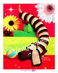 instant download pdf pattern dog draft stopper dog crochet