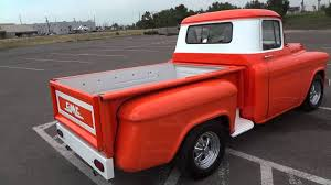 1956 gmc 1 2 ton shortbed stepside v8 custom truck for sale youtube