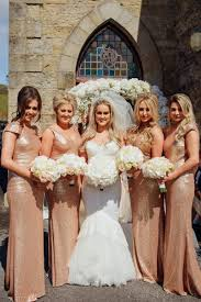 wedding flowers ni n ireland white hydrangea bouquet rose gold