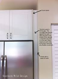 how to install cabinet filler panels ikea s over the fridge cabinet ikea cabinets kitchens and kitchen