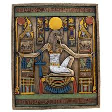 egyptian spirit of millions of years wall relief plaque