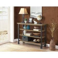 Rustic Tv Media Stand  Shelf Console Side Table Kitchen Utility - Kitchen side table
