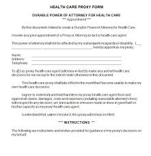 health care proxy sample contract docs sample contracts