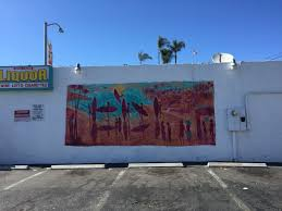 murals the artwork was created in 2012 on the exterior wall of a liquor store in the village of carlsbad in san diego county california