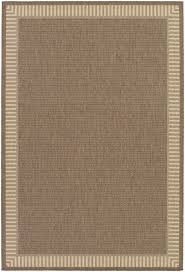 Indoor Outdoor Rug Charlton Home Westlund Wicker Stitch Cocoa Natural Indoor Outdoor