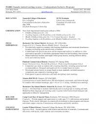 educational resume template resume exles elementary student teaching resume template for
