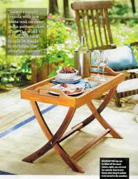 folding serving tray table plans u2022 woodarchivist
