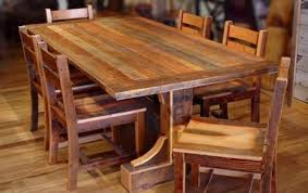 solid wood dining table rustic modern home design