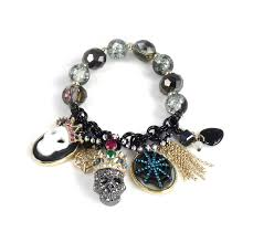 skull crystal bracelet images Betsey johnson betsey johnson jewelry halloween skull stretch jpg