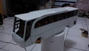 membuat miniatur mobil dari kardus cara membuat miniatur bus dari triplek kardus dan akrilik semua ukuran