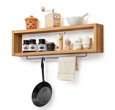 Wood For Shelves Making by Diy Wooden Kitchen Shelf With Rail Wood Shelf Hanging Rail And