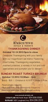 thanksgiving ad executive hotels resorts