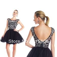 Black Homecoming Dresses With Sleeves Short Cap Sleeve Homecoming Dresses Dresses New Arrival A Line