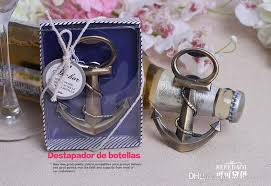 2016 new ideas wedding giveaways coppery anchor shaped chrome