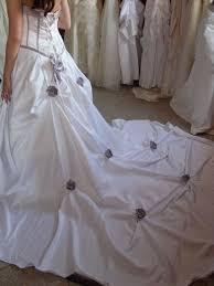 occasion mariage de mariage blanche et mauve laçage au dos occasion du mariage