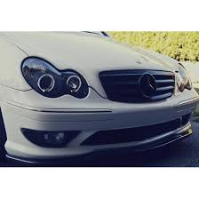 mercedes aftermarket headlights 05 mercedes c class w203 eye halo projector headlights