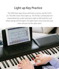 keyboard that lights up to teach you how to play the one smart piano light keyboard indiegogo