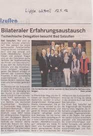 Lippische Landeszeitung Bad Salzuflen Presse Eduard Hoffmann Realschule Bad Salzuflen