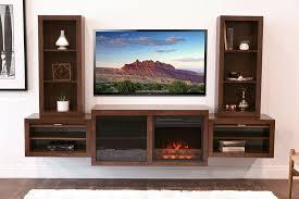 floating fireplace entertainment center console eco geo mocha