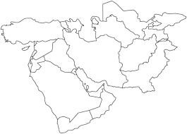 outline map middle east best photos of middle east outline map blank outline map middle