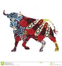 bull in a ornament stock vector image of national 33054550