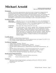 linux system administrator resume it cover letter sample doc backg