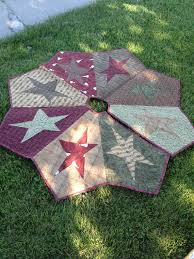 buggy barn quilted star christmas tree skirt ready to ship on