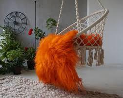 orange area rug etsy