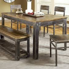 Rustic Dining Room Table New Rustic Dining Room Table With Bench 84 For Ikea Dining Table