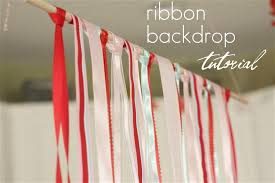 ribbon backdrop our daily obsessions party details ribbon backdrop tutorial