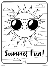 Printable Coloring Pages And Activities Free Printable Coloring Page Summer Fun Honest To Nod by Printable Coloring Pages And Activities