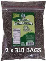 amazon com get chia brand vegan gluten free chia seeds 3 pounds
