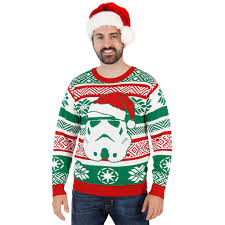 wars santa stormtrooper ugly christmas sweater