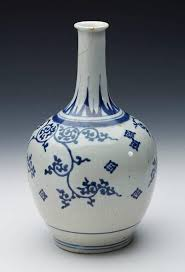 Blue And White Vase Antique Japanese Imari Porcelain Blue And White Vase 17th Century