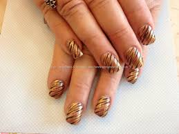 eye candy nails u0026 training acrylic nails with bronze polish and
